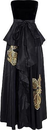 Sachin & Babi Woman Velvet-trimmed Faille Strapless Top Black Size 6 Sachin & Babi