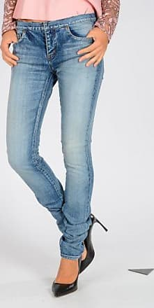 14 CM Stretch Denim Sequined Jeans Fall/winter Saint Laurent
