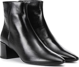 Bottines En Cuir Glacé William - NoirSaint Laurent