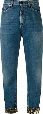 distressed effect tapered jeans - Blue Saint Laurent