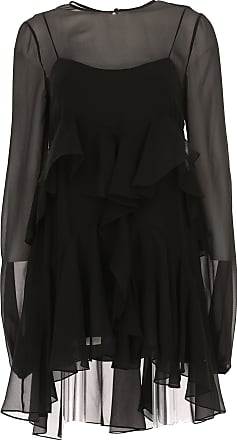 Dress for Women, Evening Cocktail Party On Sale in Outlet, Black, Silk, 2017, USA 4 -- IT 38 Saint Laurent