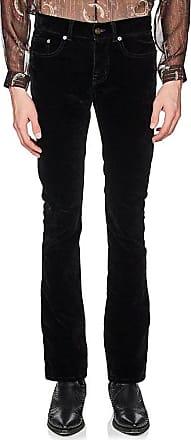 Mens Cotton-Blend Velvet Flared Jeans Saint Laurent