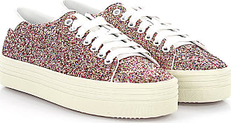 Sneaker calfskin smooth leather textile Glitter multicoloured white Saint Laurent
