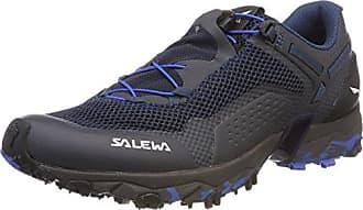 Salewa WS Ultra Train Gore-Tex, Chaussures Multisport Outdoor Femme, Multicolore (Black/Blue), 38.5 EU
