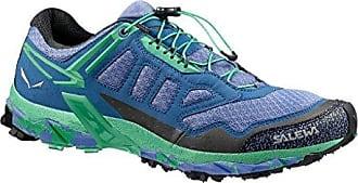 Salewa WS Ultra Train, Zapatillas de Senderismo Mujer, Azul/Verde (Colony Blue/Absinthe 8588), 36