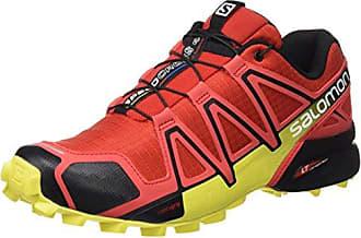 Salomon Speedcross 3 Trail Laufschuhe real green-tomato red-black - 46 2/3