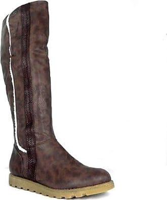 61f71f6f311fd4 M1 Damen Stiletto Absatz Schuhe Damen Stiefel Braun Braun Größe 42 ...