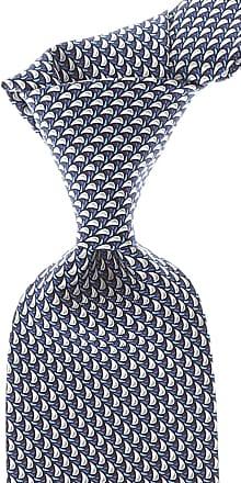 Ties On Sale, navy, Silk, 2017, one size Salvatore Ferragamo