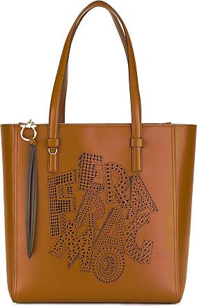 Salvatore Ferragamo Tote Bag On Sale, Brick, Leather, 2017, one size
