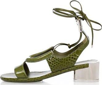 Leather GLORJA Sandals With Mirror Heel Spring/summerSalvatore Ferragamo
