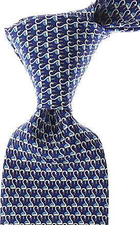 Ties On Sale, Royal Blue, Silk, 2017, one size Salvatore Ferragamo