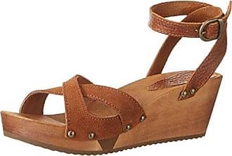 Olisa Wedge Flex Sandal - Sandalias con Cuña Mujer, Color Marrón, Talla 39 Sanita