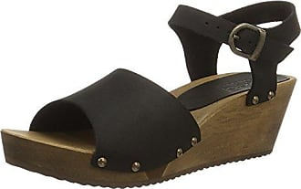 SanitaOlisa Wedge Flex Sandal - Sandalias con Cuña Mujer, Color Marrón, Talla 42