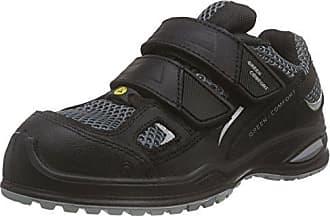 Sanita Millstone-ESD-S3 Velcro Leather Shoe, Zapatos de Seguridad Unisex Adultos, Negro (Black 2), 44 EU