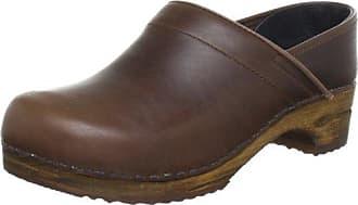 Sanita Original-Prof.Lars closed Professional Oil - Zuecos de cuero para hombre, color marrón, talla 43