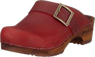 Sanita Classic Patent open, Damen Clogs, Rot (Red 4), 41 EU
