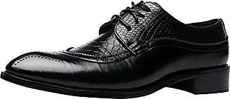 Herren Oxford Derby Schuhe Schnürhalbschuhe Trachtenmoden Haferlschuh Brogue Modische Schuh Männer Rot 37 EU