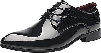 Herrenschuhe Herren Derby Schnürhalbschuhe Business Schnürer Halbschuhe Klassischer Schuhe Männer Weiß 43 EU