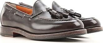 Driver Loafer Shoes for Men On Sale in Outlet, Camel, Leather, 2017, 8 Santoni