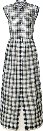 flared check shirt dress - Blue Sara Roka