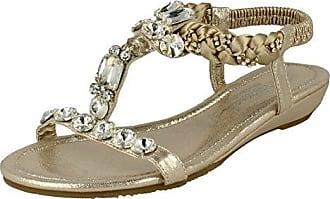 Savannah Damen Sandalen mit Schmuckstein-Design