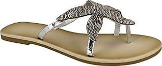 Savannah Damen Starfish Perlen Flip Flops (40 EU) (Fuchsia)
