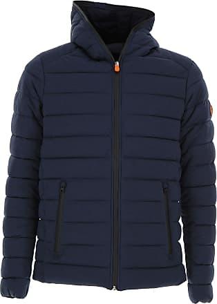 Down Jacket for Men, Puffer Ski Jacket On Sale, Avio Blue, Nylon, 2017, L M XL Save The Duck