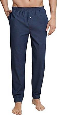 Mix & Relax Hose Lang, Pantalones de Pijama para Hombre, Azul (Dunkelblau 803), X-Large (Talla del Fabricante:054) Schiesser