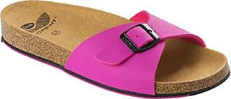 Spikey SS 4 F265642041 Fuchsia/Black Sandale Pantoletten Hausschuhe Damen Zehentreter Größe 42 (UK 8)