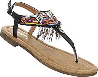 Damen Schuhe Sandalen Nieten Zehentrenner Zehensandale Badelatschen Sommer Hausschuhe Outdoorschuhe Schwimmbadschuhe Strandschuhe Weiß 41