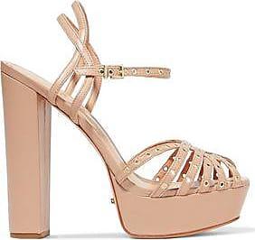 Schutz Woman Lace-up Embellished Leather Sandals Multicolor Size 10 Schutz