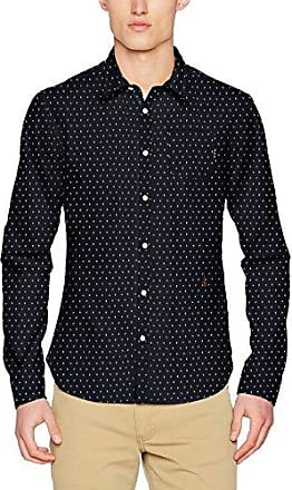 Longsleeve Shirt In Structured Cotton Quality with All-Over, Camisa para Hombre, Multicolor (Combo C), L Scotch & Soda