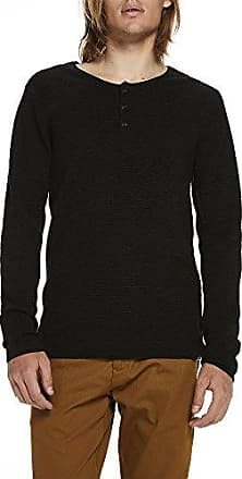 Cotton-Cashmere Grandad Pullover, Suéter para Hombre, Gris (Antra Melange 0608), X-Large Scotch & Soda