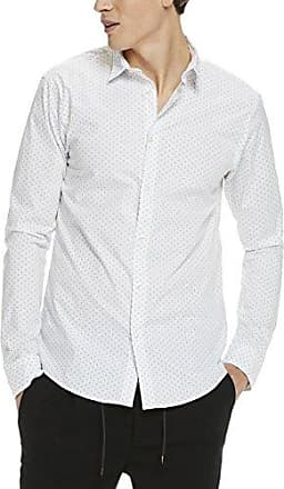 AMS Blauw Allover Printed Poplin Cotton Shirt, Camisa para Hombre, Multicolor (Combo a 17), Medium Scotch & Soda