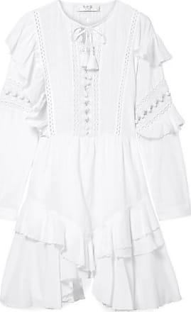 Appliquéd Cotton-mesh Dress - Off-white Sea New York