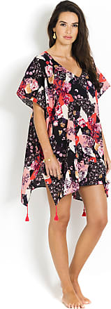 Caftan in Cotton voile, SEAFOLLY, Black Flower - Ocean Rose Seafolly