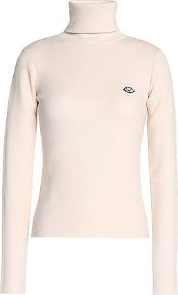See By Chloé Woman Cotton-blend Turtleneck Sweater Pastel Yellow Size XS See By Chloé