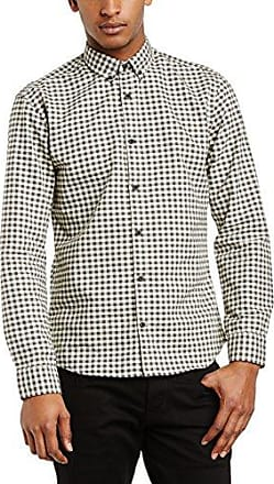 Homme Mens Zero Globe NOOS ID Slim Fit Button Down Long Sleeve Casual Shirt Selected