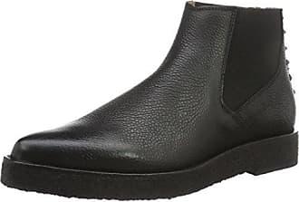 Selected Femme Sfamber Zip Croco Boot, Botas para Mujer, Negro (Black), 40 EU