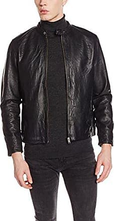 Selected Sfdanjas Ls Leather Blazer, Blouson Femme, (Dark Sapphire), 36