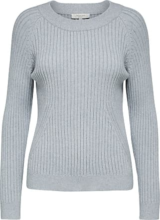 Gestreifter Strickpullover Dames Grijs Selected