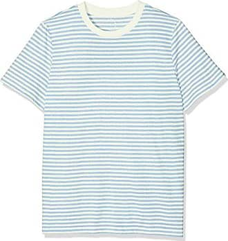 SFMY Perfect SS Tee - Box Cut-STRI. Noos, T-Shirt Femme, Multicolore (Burlwood), 40 (Taille Fabricant: Large)Selected