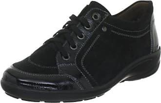 Semler Xenia, Zapatos de Cordones Brogue para Mujer, Negro (Schwarz 001), 40 2/3 EU