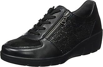Semler Xenia, Zapatos de Cordones Brogue para Mujer, Gris (Perle 015), 37 EU