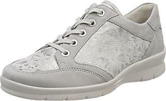Semler Xenia, Zapatos de Cordones Brogue para Mujer, Grau (Perle), 38 2/3 EU