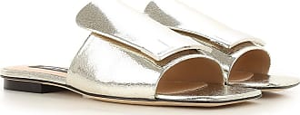 Sandals for Women On Sale, Turtledove, suede, 2017, 5 7 Sergio Rossi