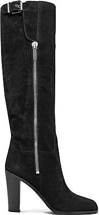 Jimmy Choo Woman Doma Elaphe-paneled Suede Over-the-knee Boots Black Size 36 Jimmy Choo London