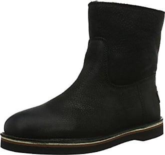 Shabbies Amsterdam Shabbies Ladies Short Boot 16cm with Merino Lammy Lining Alissa, Zapatillas de Estar Por Casa para Mujer, Negro-Negro, 41 UE