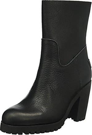 Womens Buckle Strap Short 17cm Merino Lammy Lining Alexia Slouch Boots, Grey Shabbies Amsterdam