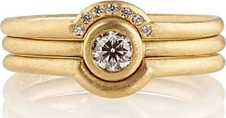 Shakti Ellenwood Trinity 18kt Fairtrade Gold and Diamond Rings - UK U - US 10 1/4 - EU 62 3/4 - Rose